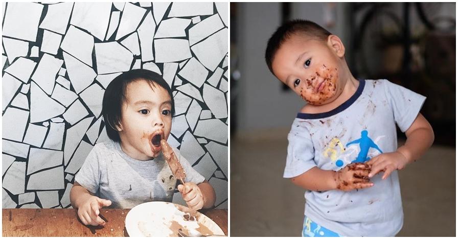 Belepotan & lahap, ini 7 gaya makan anak seleb yang ngegemesin banget