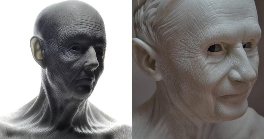 10 Patung manusia dari batu ini detailnya bikin melongo, seperti nyata