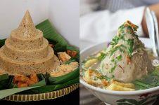Pakai nasi sudah biasa, 4 tumpeng ini dibuat dari bahan tak terduga