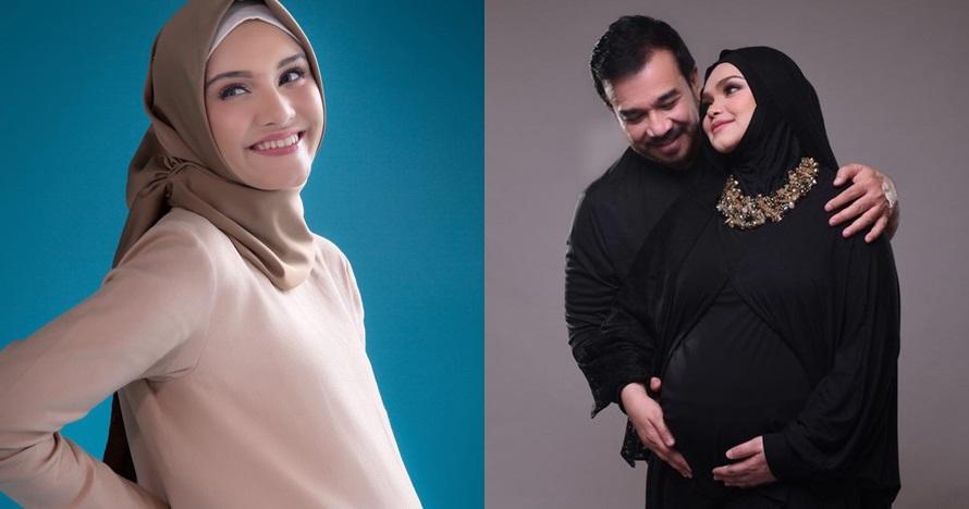 Gaya elegan 7 seleb cantik berhijab saat pemotretan maternity