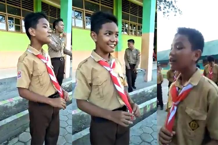 Syahdu abis, aksi anak SMP nyanyi dangdut ini bikin pengen goyang