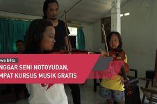 Dari hobi, Alvon dirikan sanggar seni musik gratis