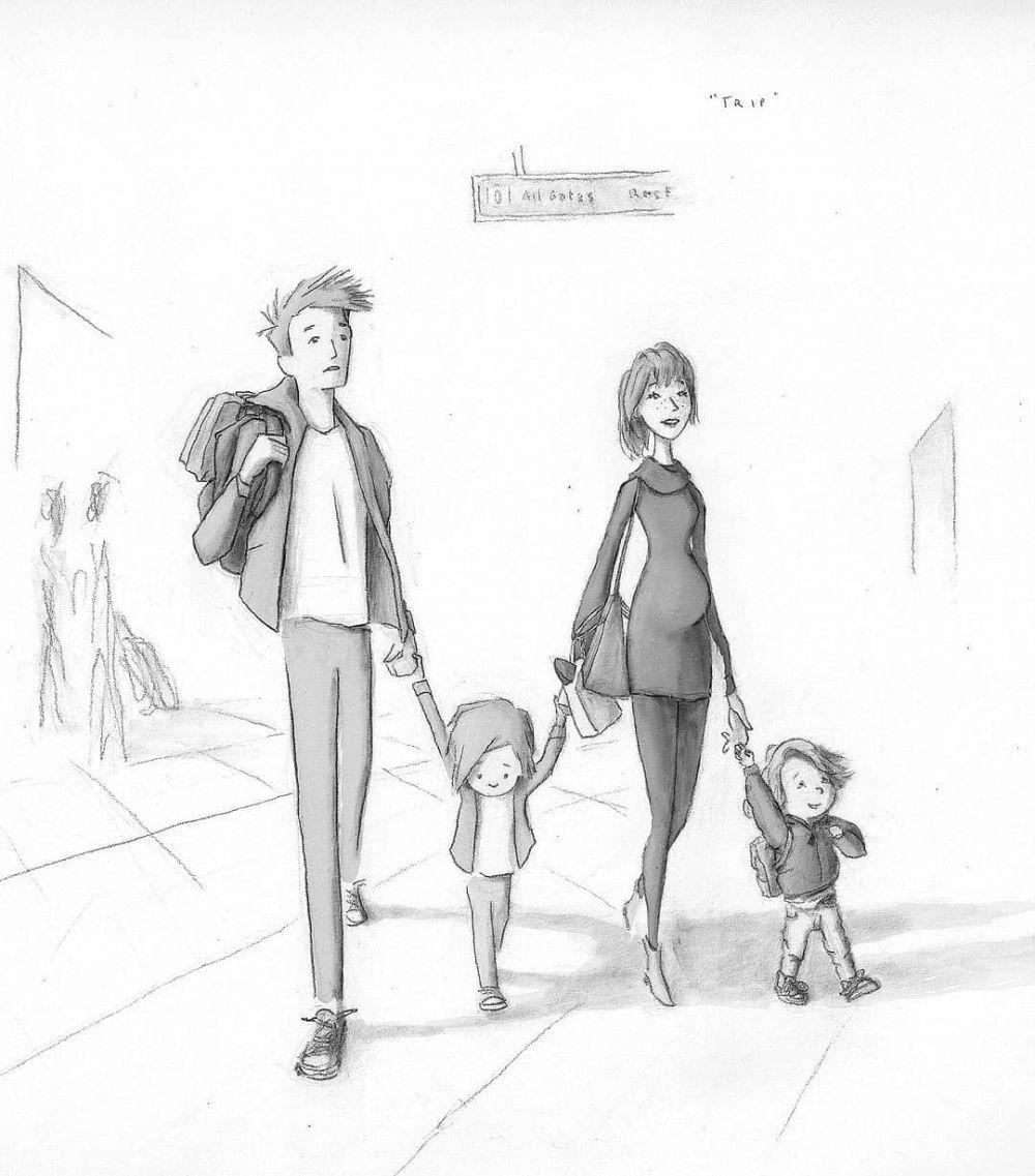 10 Sketsa Keluarga Bahagia Ini Bikin Baper Jadi Rindu Sama Ayah