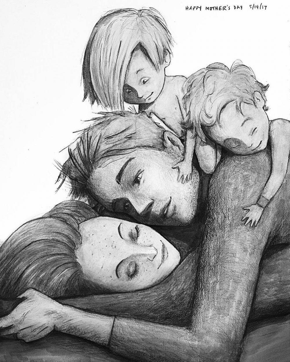10 Sketsa Keluarga Bahagia Ini Bikin Baper Jadi Rindu Sama