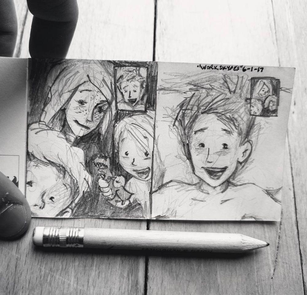 10 sketsa keluarga bahagia © Instagram/@curtiswiklund