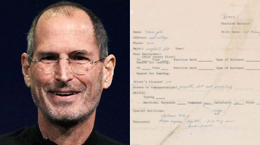 Surat lamaran kerja Steve Jobs terjual, harganya setara 166 iPhone X