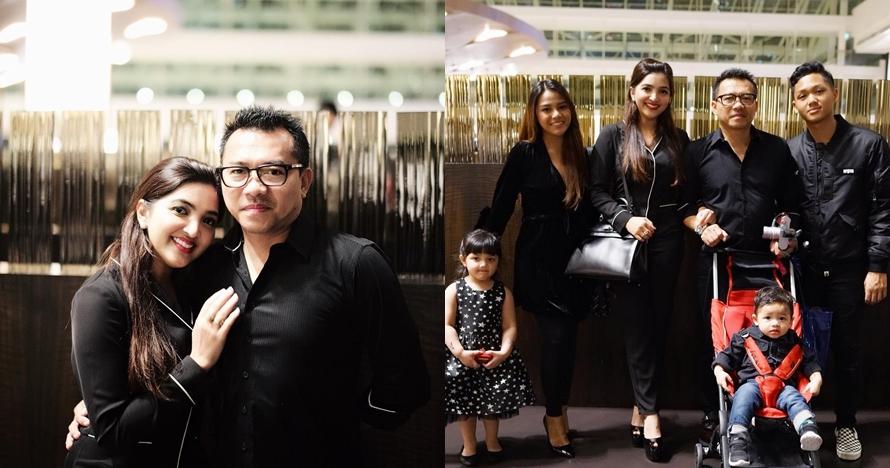 7 Momen ulang tahun Anang Hermansyah di Singapura, kompak serba hitam