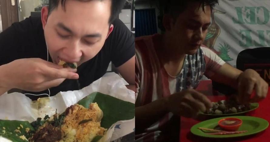 10 Gaya makan Kiki Farrel, dari nasi bungkus hingga warung kaki lima