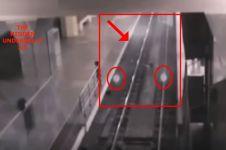 Rekaman CCTV penampakan kereta hantu ini bikin merinding sendiri
