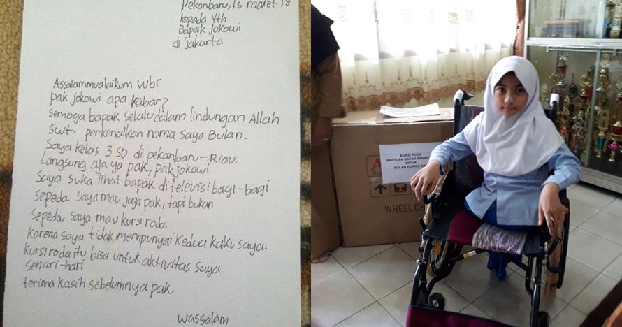 Momen haru bocah SD saat suratnya minta kursi roda dipenuhi Jokowi