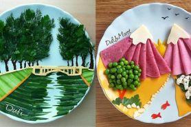 9 Karya pemandangan ini terbuat dari makanan, hasilnya ciamik banget