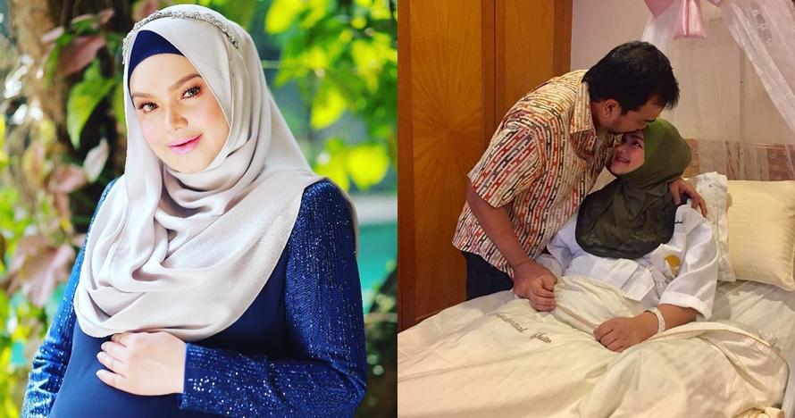 Begini momen pertama kali Siti Nurhaliza gendong bayinya, telaten abis