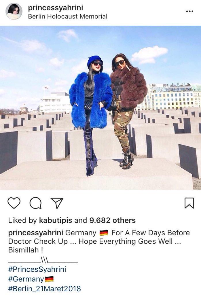 syahrini monumen holocaust © Instagram/@princessyahrini