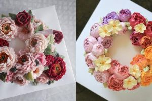 8 Kreasi flowercake, kue cantik dengan hiasan bak bunga asli