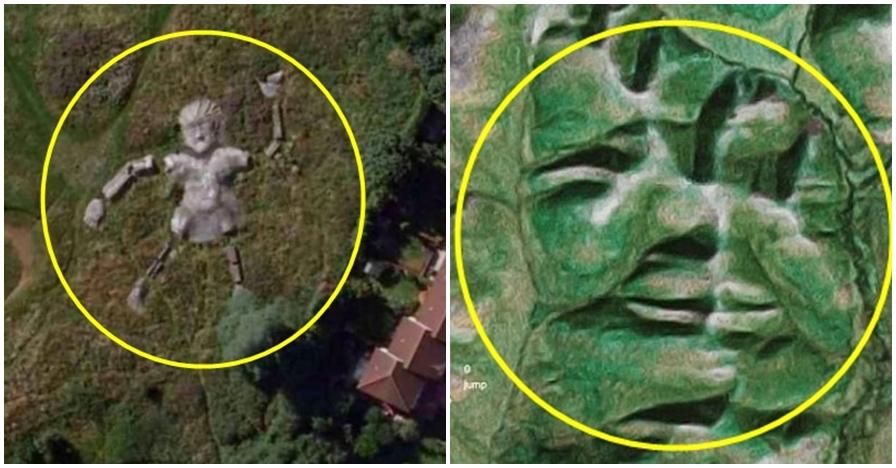 8 Momen tertangkap Google Earth mirip wajah manusia ini horor banget