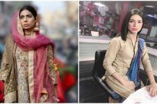 5 Potret Mavia Malik, transgender pembaca berita pertama di dunia