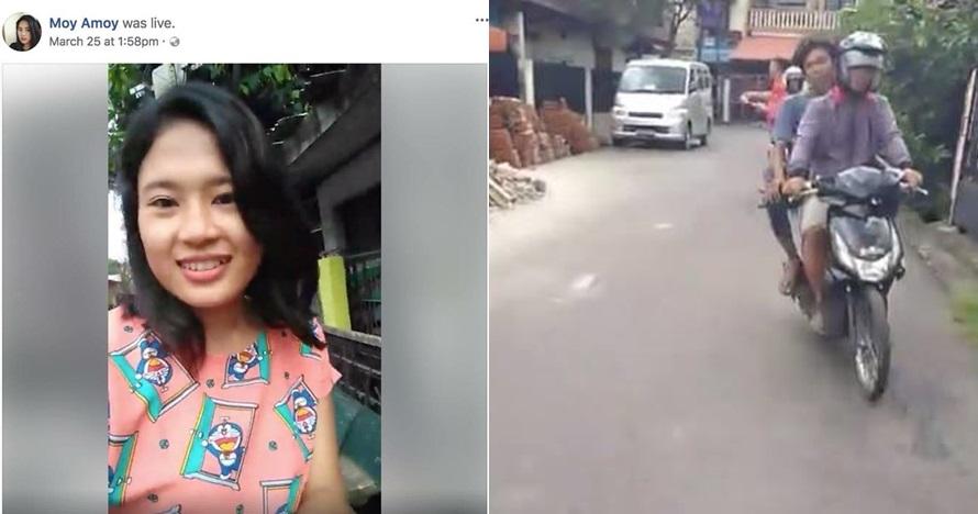 Apes banget, HP cewek ini dijambret saat lagi siaran live di Facebook