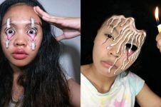 8 Ilusi makeup karya cewek ini hasilnya keren dan menyeramkan