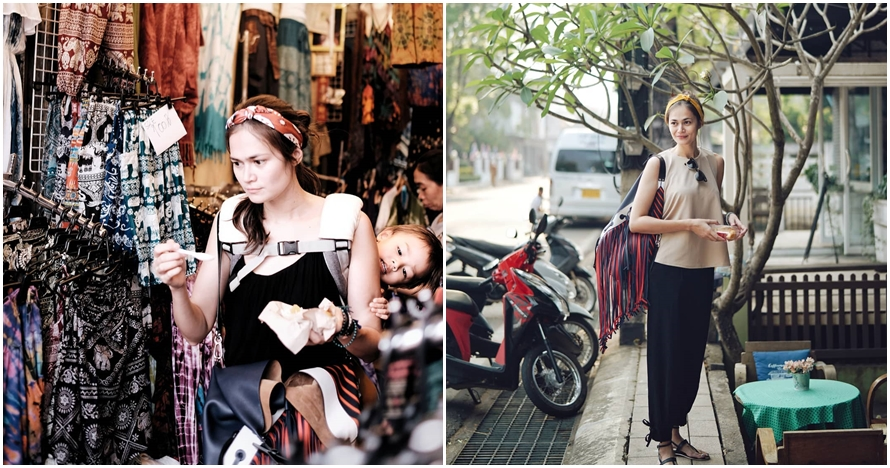 Bak ibu-ibu pasar, ini 10 gaya Sabai Morscheck traveling ke Thailand