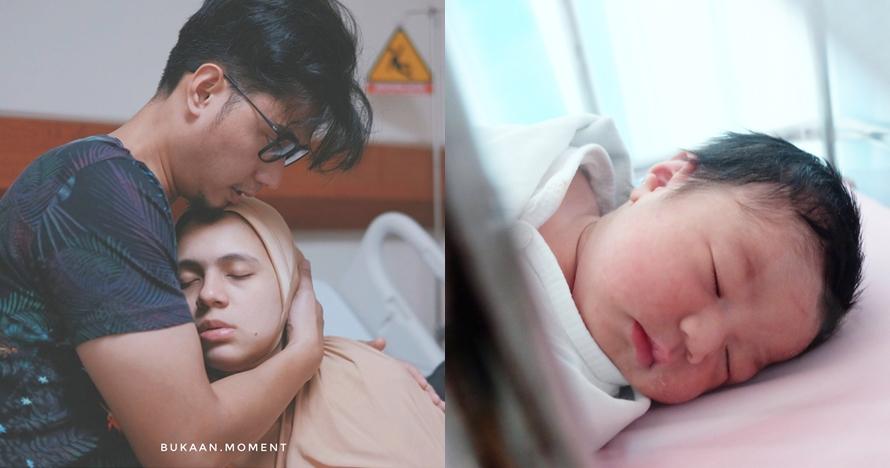 10 Momen persalinan anak kedua Nycta Gina, suami hampir tak dampingi