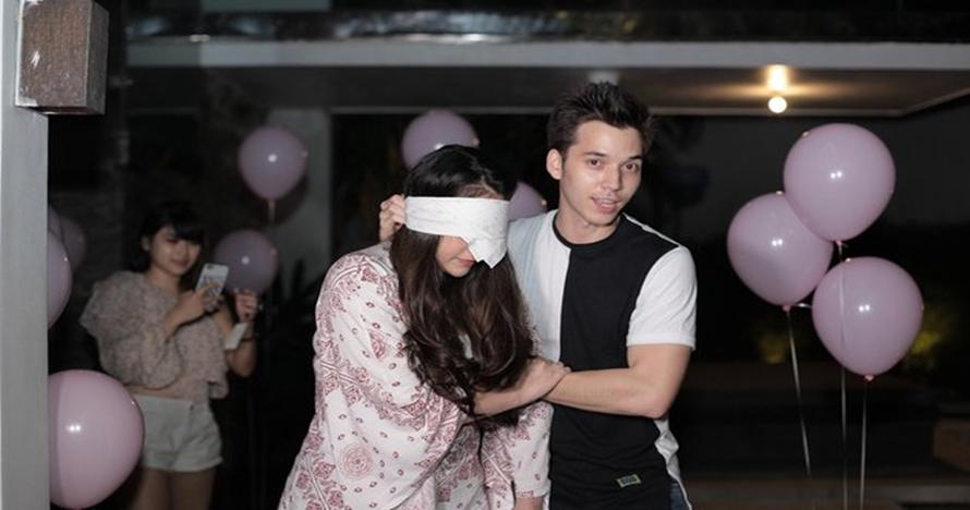 Detik-detik Stefan William beri kejutan romantis di ulang tahun Celine