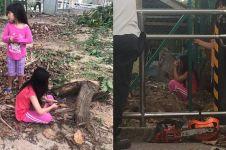 Kisah di balik foto anak kecil menangis di depan pohon ini bikin haru