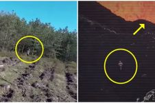 5 Penampakan sosok misterius tertangkap drone ini bikin merinding