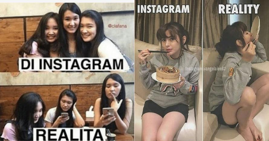 7 Meme beda kelakuan cewek di Instagram vs realita ini mak jleb banget