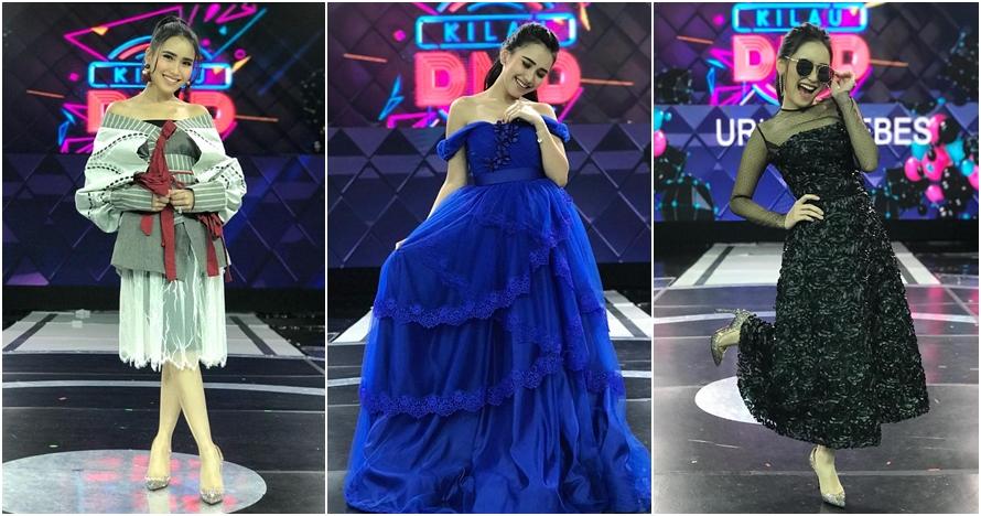 Jadi juri, ini 10 pose Ayu Ting Ting pakai gaun di panggung Kilau DMD