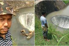 Warga heboh, ada sumur misterius di tengah sungai di Probolinggo