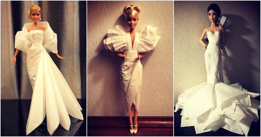 Cuma dari tisu, 15 gaun pengantin Barbie ini justru bak karya desainer