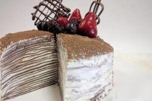 Resep mudah buat mille crepes cake cokelat, kue seribu lapis nan manis