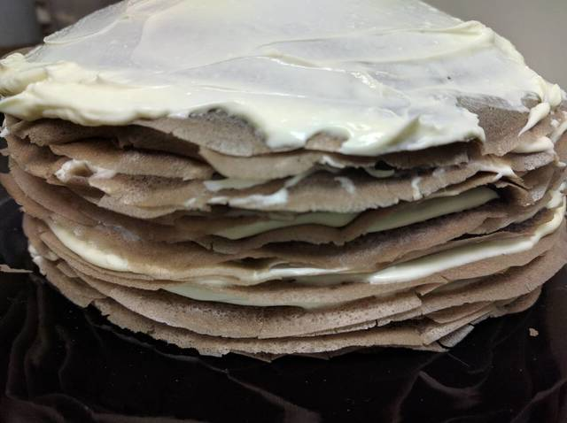 mille crepes cake cokelat © 2018 Cookpad
