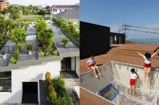 9 Desain rooftop inspiratif abis, bisa jadi taman hingga ruang bermain