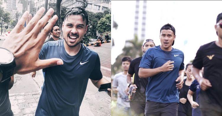 10 Gaya macho Chicco Jerikho latihan marathon, bikin ikut keringetan