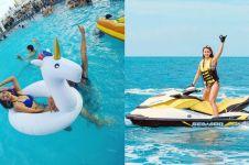 10 Bukti Maria Selena tak bisa jauh-jauh dari air, awas salah fokus