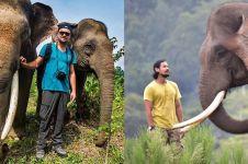 10 Beda Chicco Jerikho & Leo DiCaprio saat kampanye perlindungan gajah