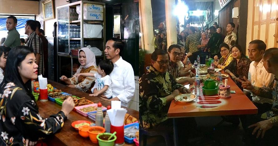 7 Momen Jokowi makan sederhana, ada yang di warung pinggir jalan