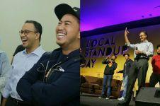 Aksi Anies Baswedan saat stand up comedy, bikin tawa penonton pecah