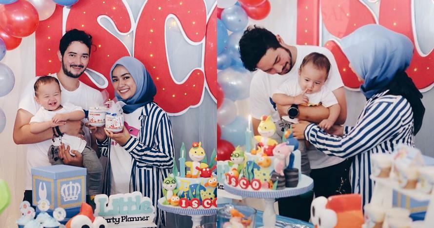 8 Potret keseruan ulang tahun Alem Isco Zeroun, anak Aryani Fitriana