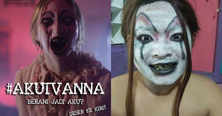 10 Gaya kocak warganet tiru makeup hantu Ivanna Danur ini bikin ngakak