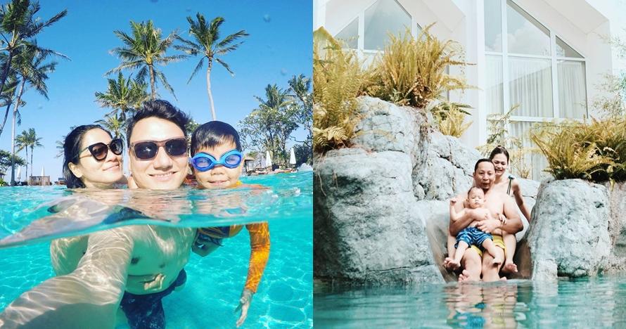 Potret keseruan 7 pasangan selebriti berenang bersama anak, bikin iri