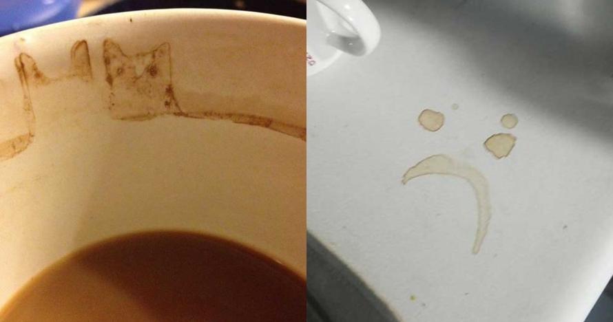 10 Bekas kopi ini tidak sengaja membentuk gambar unik, wow!