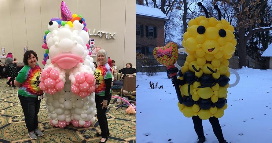 Bukan dengan kain, 11 kostum mengagumkan ini tersusun dari balon