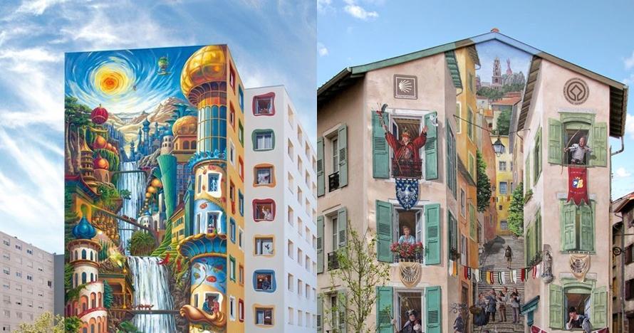 6 Karya mural bertema negeri dongeng ini keren abis
