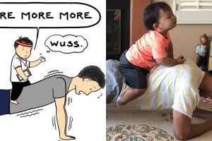 10 Ilustrasi ini gambarkan serunya hubungan balita dan ayahnya
