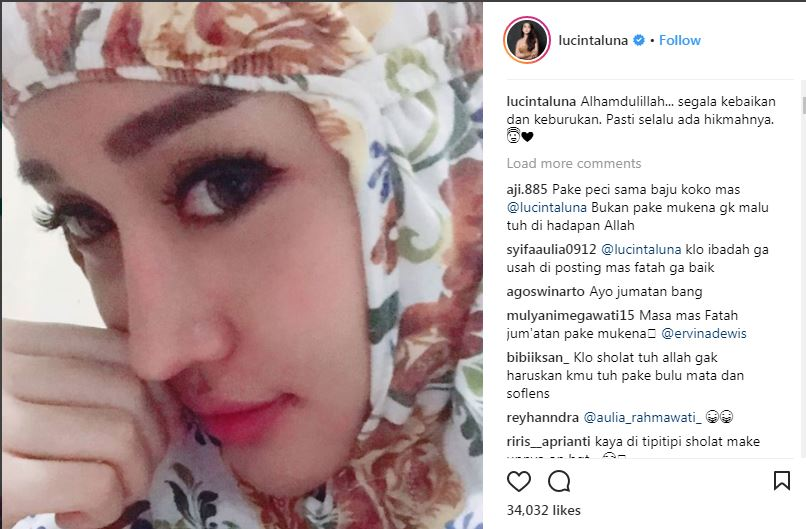Image result for lucinta luna hijab