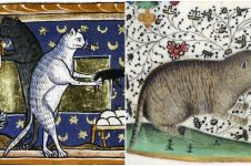 10 Potret kucing di lukisan abad pertengahan, bentuknya unik dan aneh