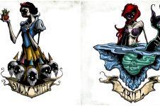 Jauh dari lucu, 6 lukisan karakter Disney ini malah serem banget