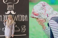 7 Gaya hijab simpel Dena eks JKT48 ini bisa jadi inspirasi buat OOTD